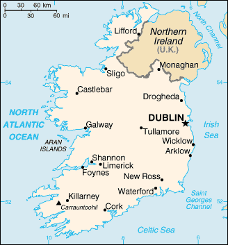 Map Of Ireland Cities And Towns.Maps Of Ireland
